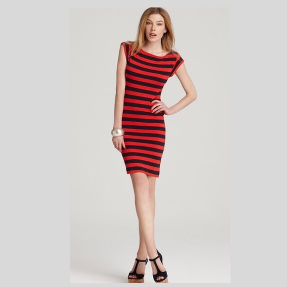 French Connection Dresses & Skirts - French Connection Striped Bodycon Cotton Dress